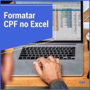 formatando o cpf no excel