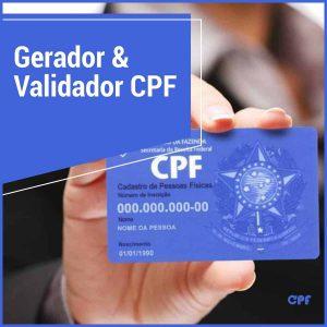web app para gerar e validar cpf